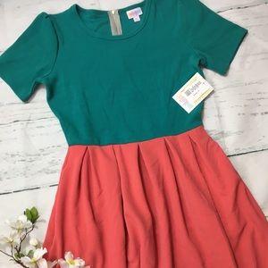 "NWT LuLaRoe ""watermelon"" Amelia Dress M"
